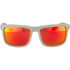 100% Blake Bril, soft tact quicksand/hiper red multilayer mirror lens